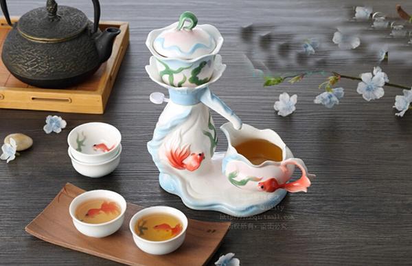 活期珐琅瓷自动茶具2