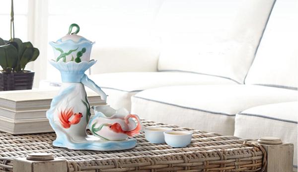 活期珐琅瓷自动茶具5