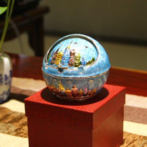 创意个性带盖欧式烟灰缸父亲节礼物