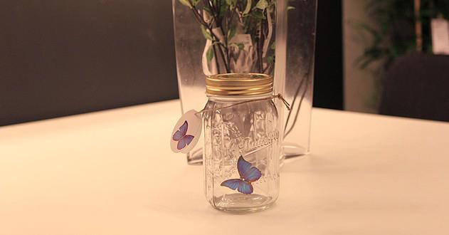 浪漫蝴蝶创意玻璃瓶 1