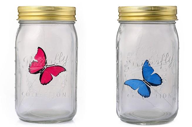 浪漫蝴蝶创意玻璃瓶 4