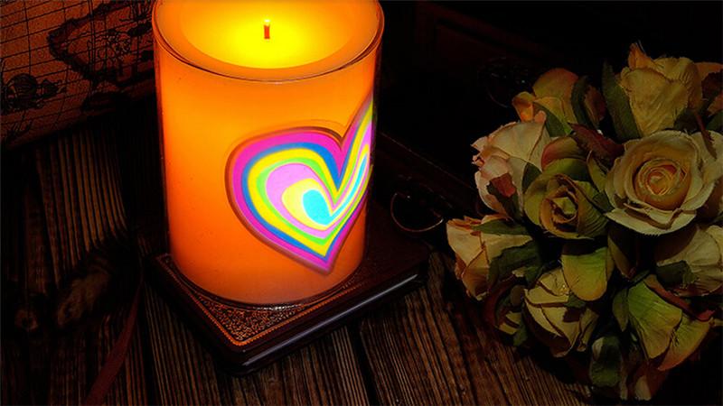 浪漫心形创意动态蜡烛3