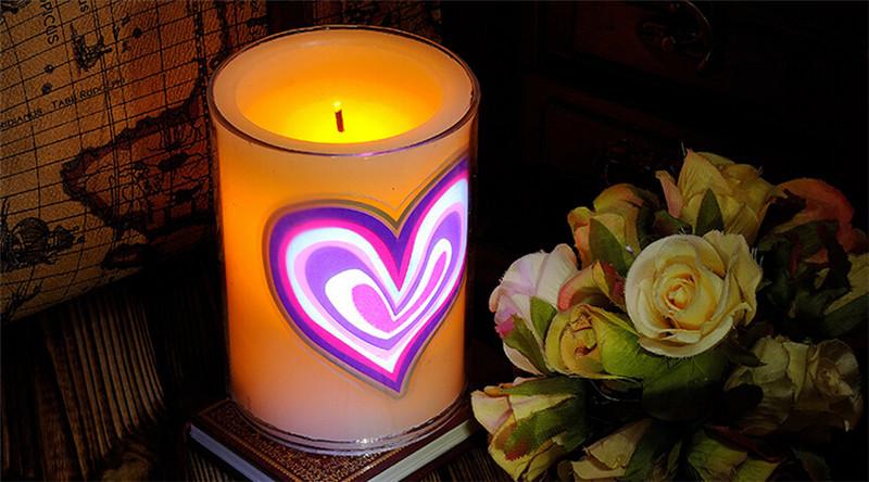 浪漫心形创意动态蜡烛2