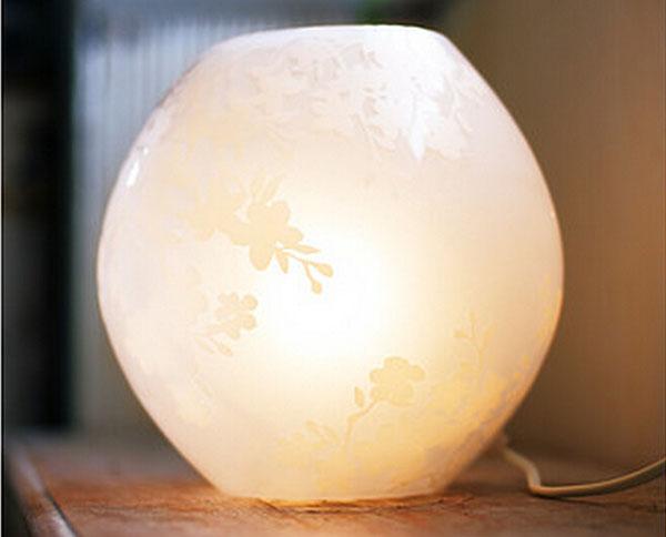 樱花毛玻璃台灯3