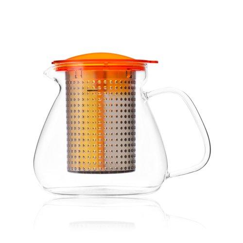 红点奖|Finum耐热玻璃过滤茶壶1L电炉明火加热