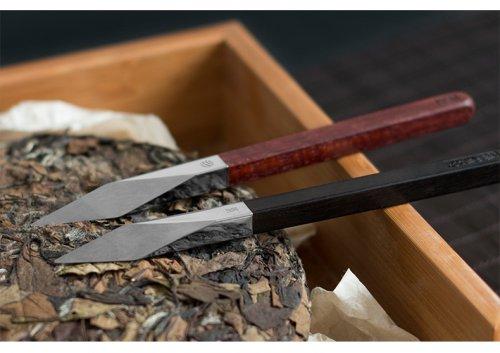 红点奖|紫檀黑檀木柄钛金白茶普洱茶针茶锥