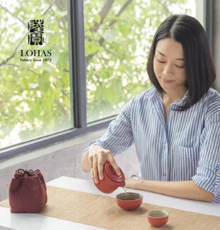红点奖|台湾陆宝陶瓷旋纹旅行茶组快客杯