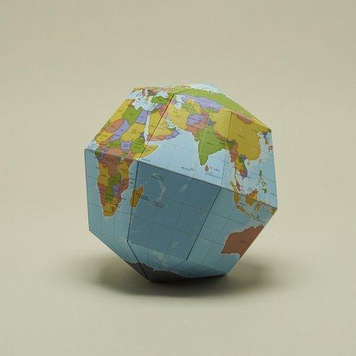 日本geografia 组装式地球仪DIY 红点设计