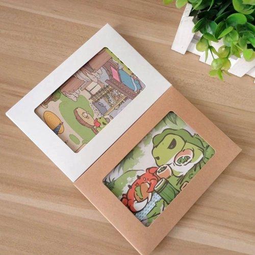 旅行青蛙周边明信片二次元动漫卡通收藏卡整套