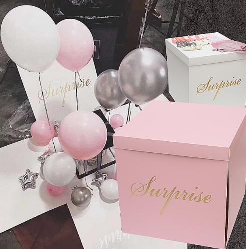 抖音惊喜盒子求婚表白生日礼物
