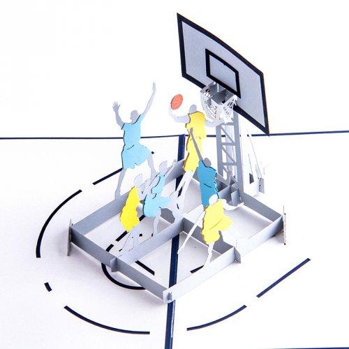 韩国3d创意高档送男生篮球纸雕