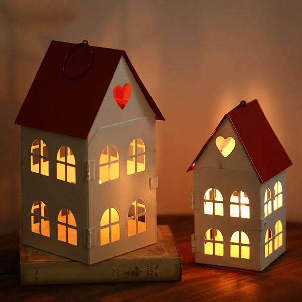 童话爱心红屋顶烛台1