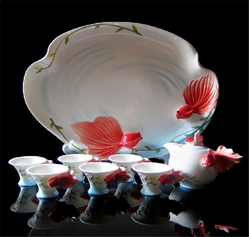 金鱼陶瓷茶1