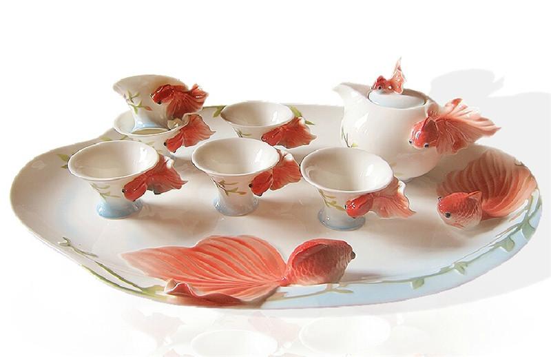 金鱼陶瓷茶2