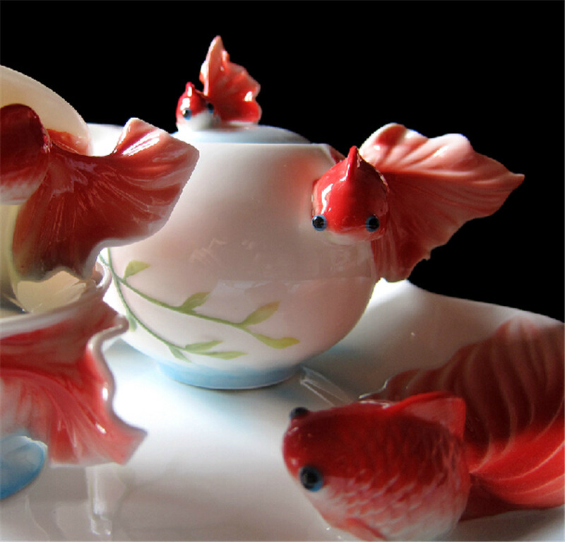 金鱼陶瓷茶3