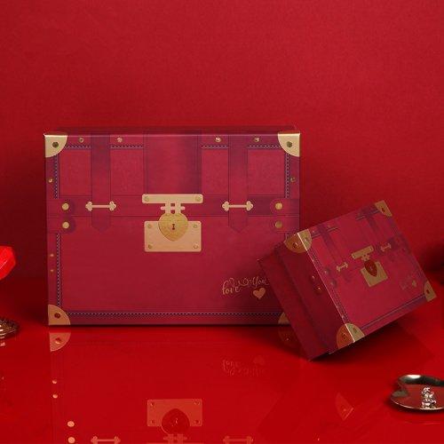 情侣款礼盒七夕礼品包装盒创意复古礼物盒