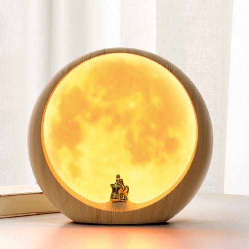 月球灯月亮灯小夜灯创意usb充电网红台灯