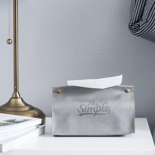 北欧ins抽纸盒客厅餐桌家用车载收纳纸巾袋子