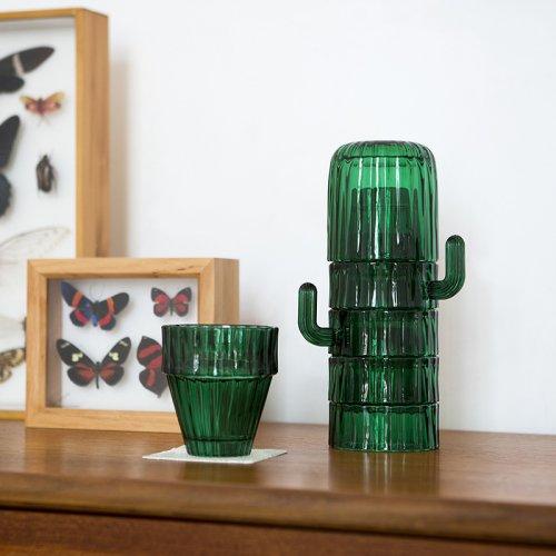 doiy仙人掌套杯复古堆叠植物造型冷水壶玻璃杯