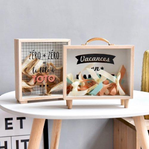 北欧ins创意木质文艺清新存钱罐杂物收纳盒道具
