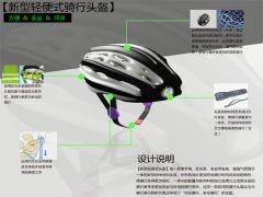 新型安全骑行头盔-工业创意设计