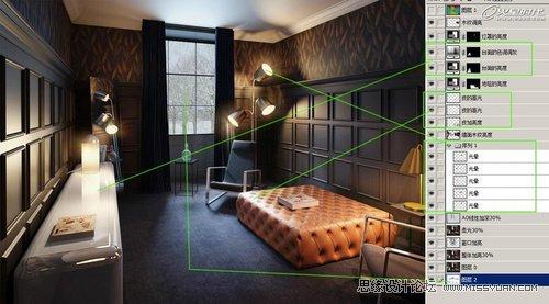 3dmax教程:vray静谧室内场景渲染解析(3)
