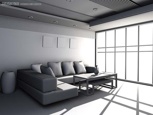 渲染如图 3dmax教程 简单的室内场景渲染教程 高清图片