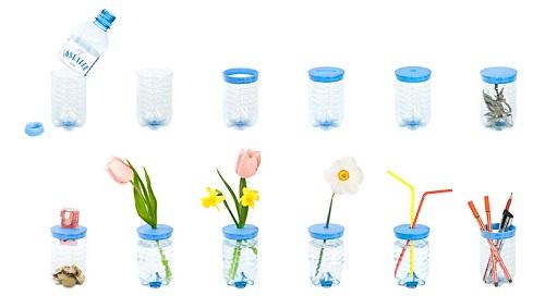 创意设计:矿泉水瓶的再利用