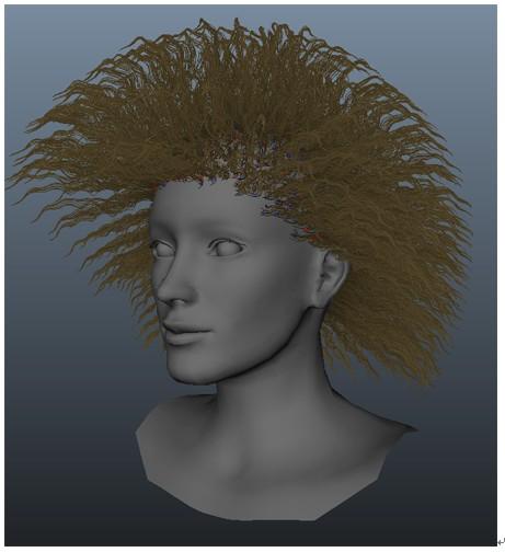 maya2013_nhair人头基本发型制作基础_设定nucleus 节点属性图片