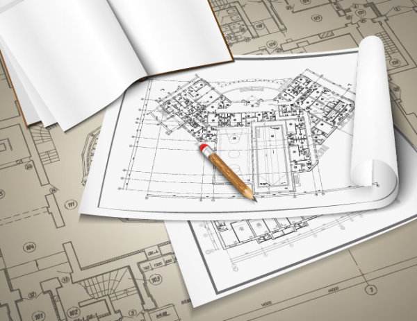 设计图分享 出租屋设计图纸 > 房屋设计图纸02 矢量素材