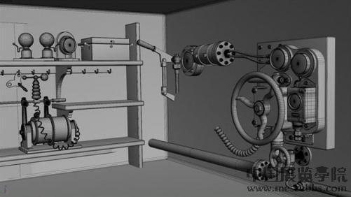 纹理 将ao贴图设定为multi maya打造童话中的小机器高清图片
